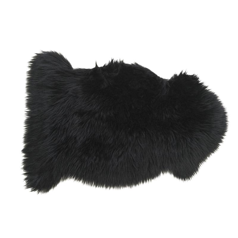 jet de canap en fausse fourrure noir ntx1160c aubry. Black Bedroom Furniture Sets. Home Design Ideas