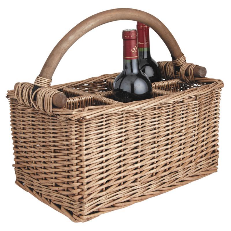panier porte bouteilles en osier pbo1590 aubry gaspard. Black Bedroom Furniture Sets. Home Design Ideas