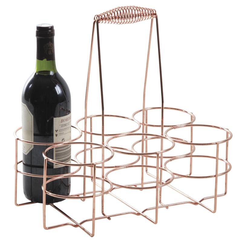 panier 6 bouteilles en m tal cuivr pbo1850 aubry gaspard. Black Bedroom Furniture Sets. Home Design Ideas