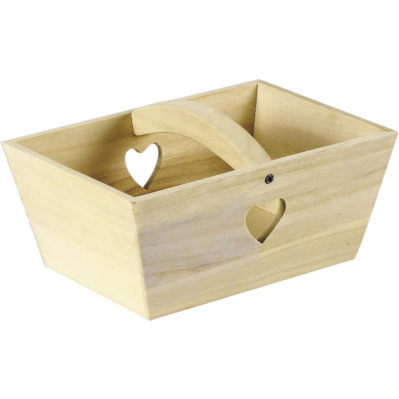 panier en bois avec d coupe coeur pen1070 aubry gaspard. Black Bedroom Furniture Sets. Home Design Ideas