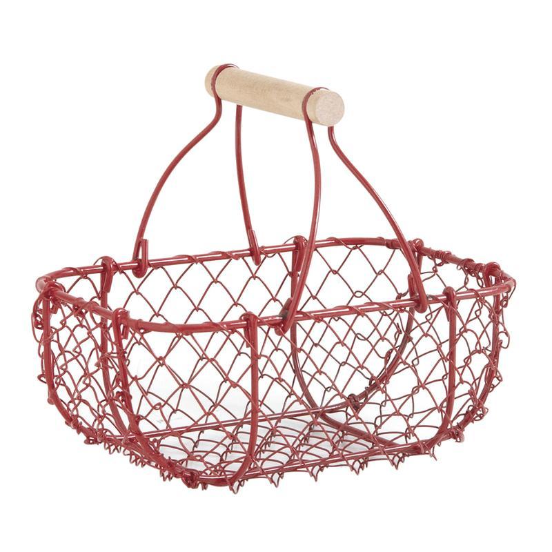 panier en grillage rouge pen1620 aubry gaspard. Black Bedroom Furniture Sets. Home Design Ideas