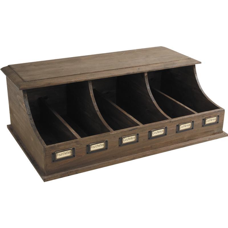 range couverts en bois vieilli trc1200 aubry gaspard. Black Bedroom Furniture Sets. Home Design Ideas