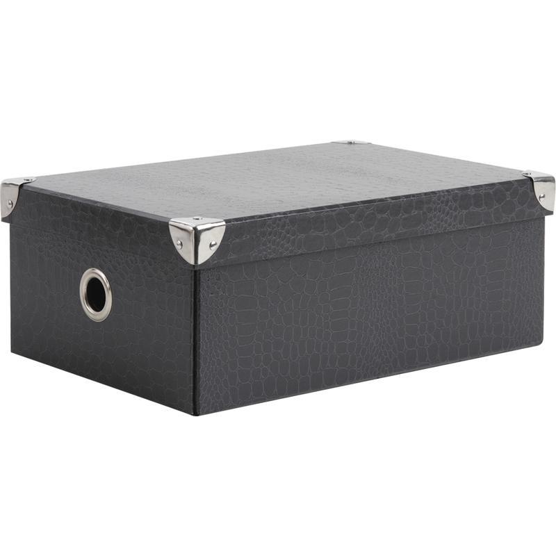 boite pliable en carton gris vbt2360 aubry gaspard. Black Bedroom Furniture Sets. Home Design Ideas