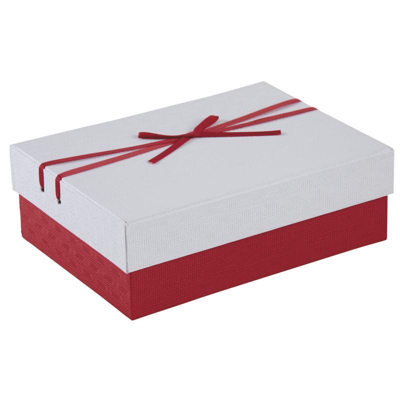 boite cadeau rouge et blanche vbt2892 aubry gaspard. Black Bedroom Furniture Sets. Home Design Ideas
