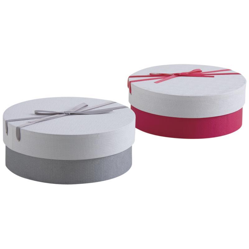 boite cadeau ronde en carton avec noeud vbt2900 aubry gaspard. Black Bedroom Furniture Sets. Home Design Ideas