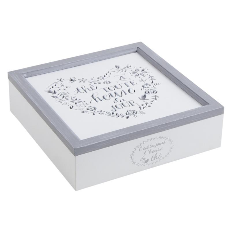 Boite th 9 compartiments en bois laqu vcp1210 aubry gaspard - Boite a the 9 compartiments ...
