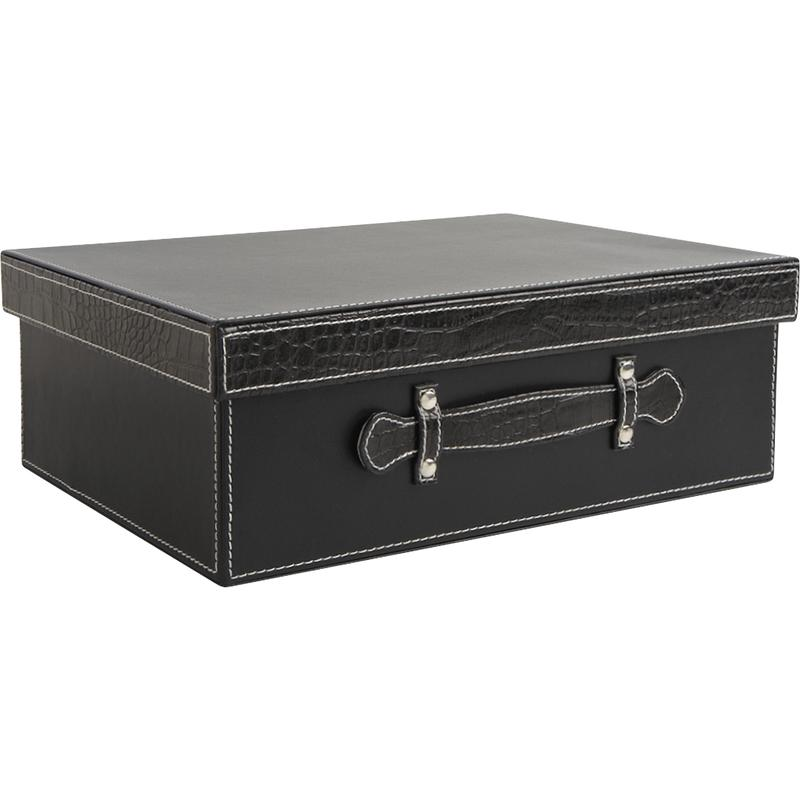 valise en simili cuir et croco vva1760 aubry gaspard. Black Bedroom Furniture Sets. Home Design Ideas