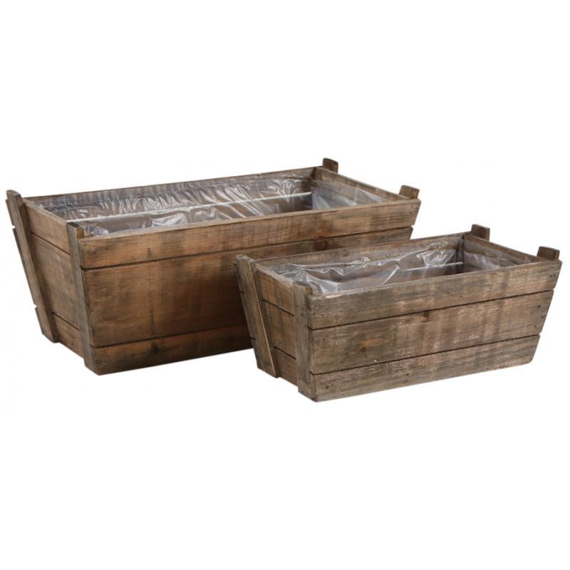 Corbeilles rectangulaires en bois cco805sp aubry gaspard for Miroirs rectangulaires bois
