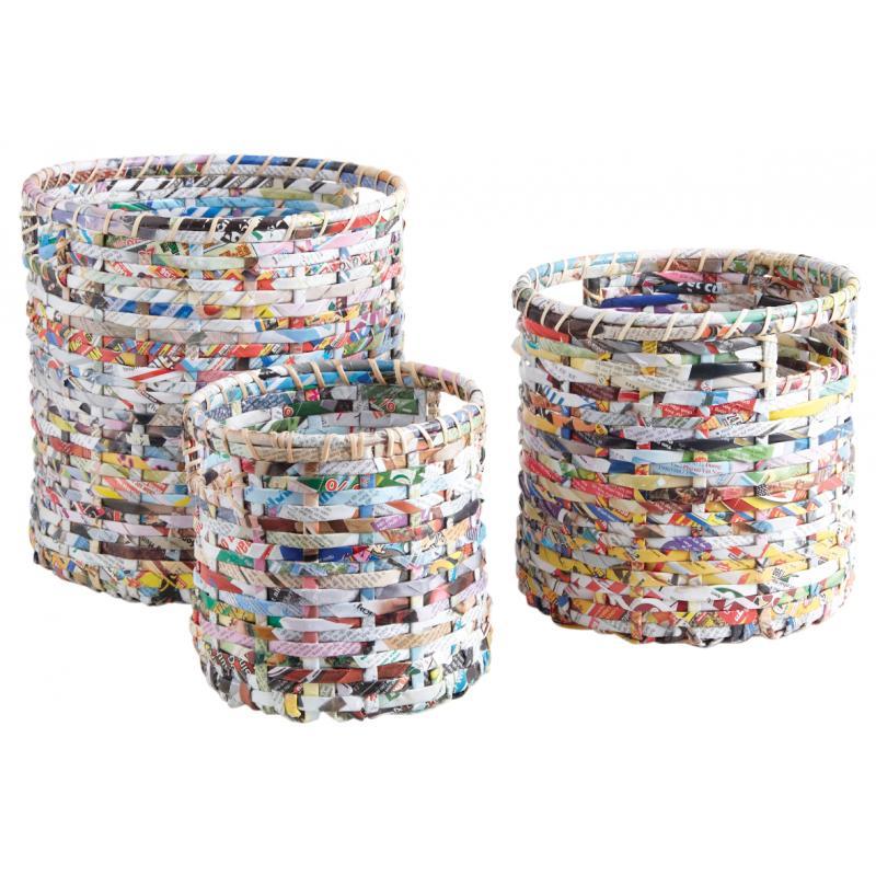 cache pot en papier recycl jcp356s aubry gaspard. Black Bedroom Furniture Sets. Home Design Ideas