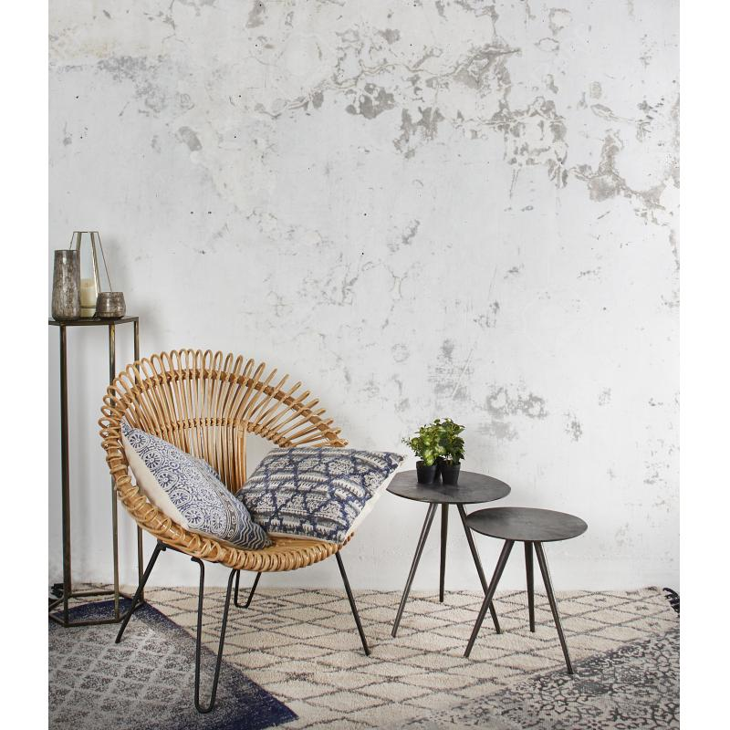 fauteuil rond en rotin naturel et m tal mfa2870 aubry. Black Bedroom Furniture Sets. Home Design Ideas