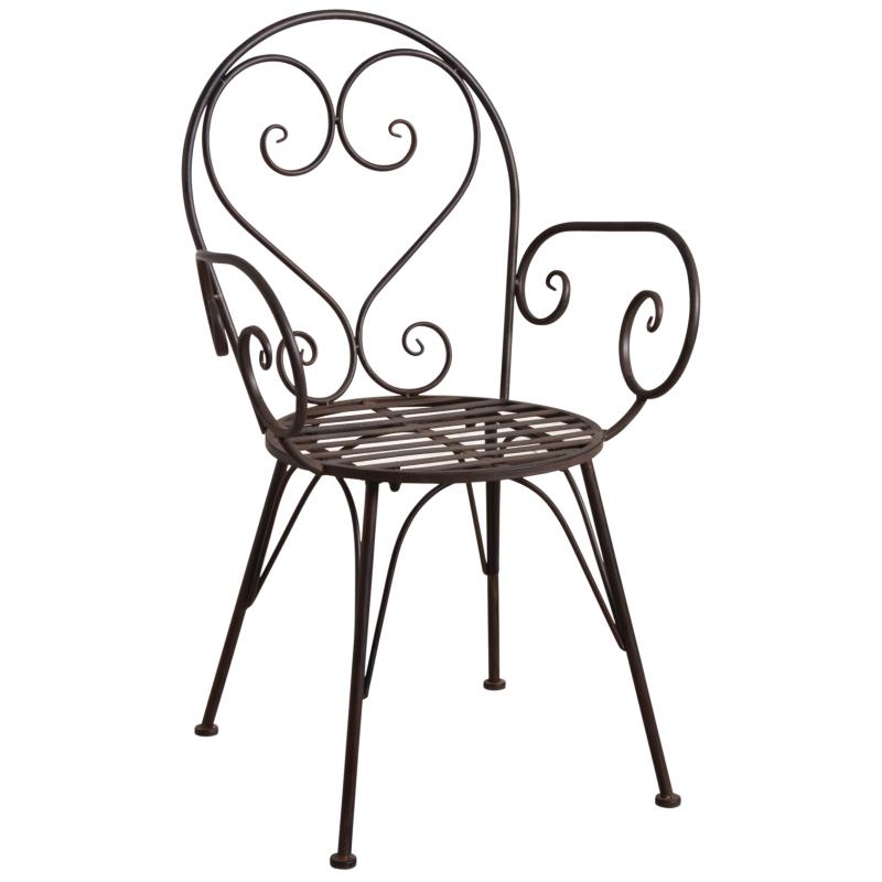 fauteuil de terrasse en mtal vieilli - Fauteuil Terrasse