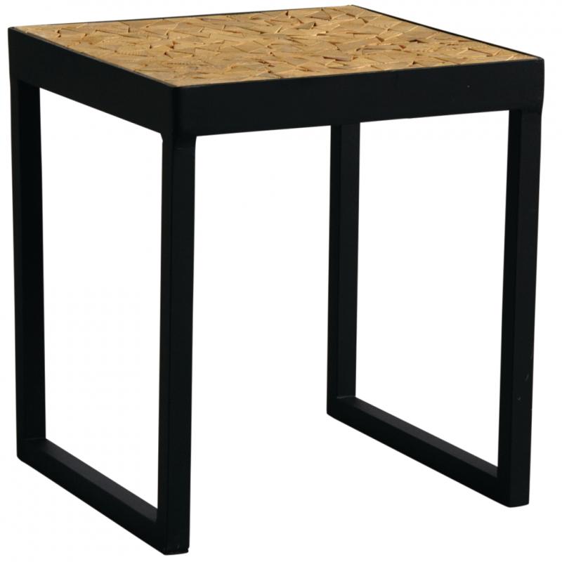 Table Carree Bois Metal.Table Carree En Metal Et Bois Mtb1540 Aubry Gaspard