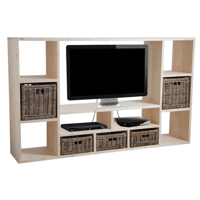 meuble tv en pic a brut mtv1090 aubry gaspard. Black Bedroom Furniture Sets. Home Design Ideas