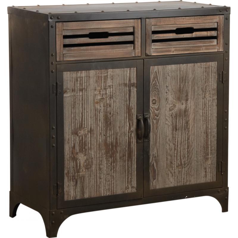 bahut en m tal et bois ncm2570 aubry gaspard. Black Bedroom Furniture Sets. Home Design Ideas