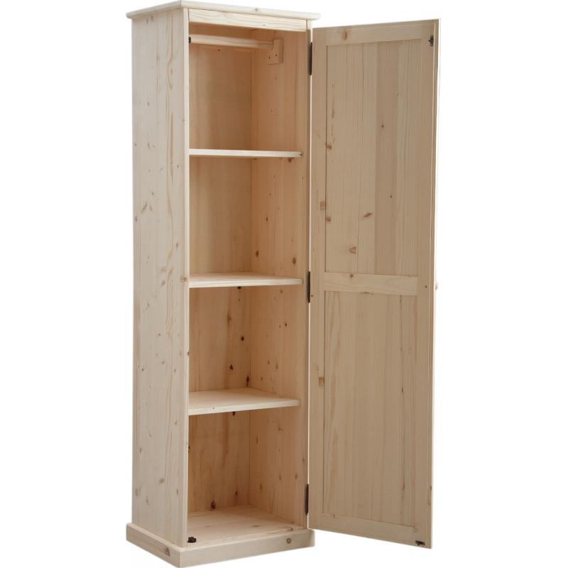 armoire en bois brut 1 porte ncm2680 aubry gaspard. Black Bedroom Furniture Sets. Home Design Ideas