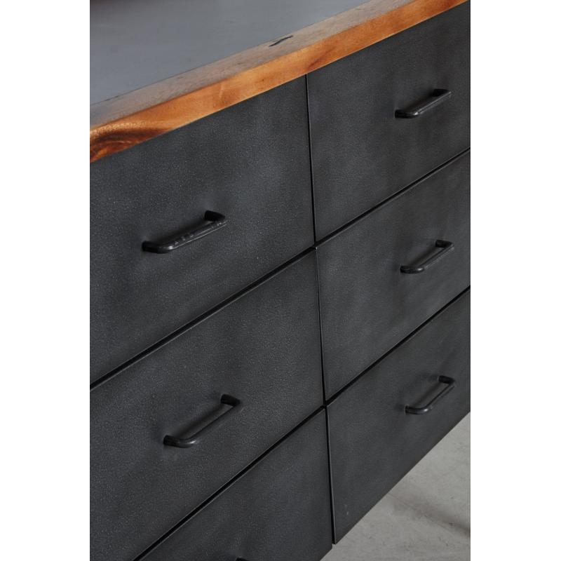 commode alice en bois de suar massif et m tal ncm3100 aubry gaspard. Black Bedroom Furniture Sets. Home Design Ideas