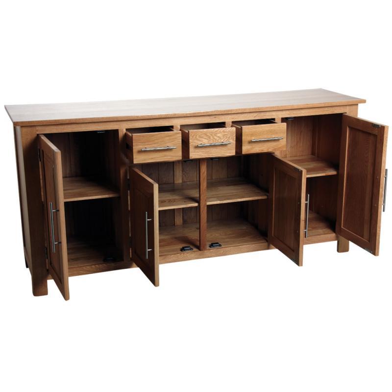 buffet en ch ne massif ncm3220 aubry gaspard. Black Bedroom Furniture Sets. Home Design Ideas