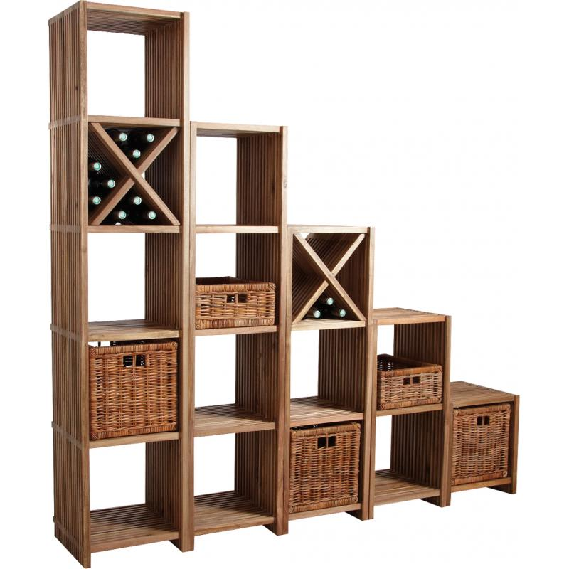 corbeille de rangement en poelet cra4142 aubry gaspard. Black Bedroom Furniture Sets. Home Design Ideas