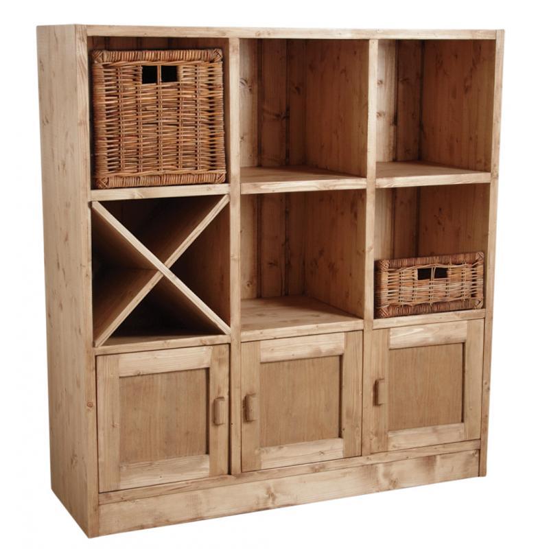 etag re 6 cases 3 portes en pic a cir miel net2160 aubry gaspard. Black Bedroom Furniture Sets. Home Design Ideas