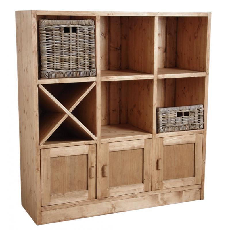 etag re 6 cases 3 portes en pic a cir miel net2160. Black Bedroom Furniture Sets. Home Design Ideas