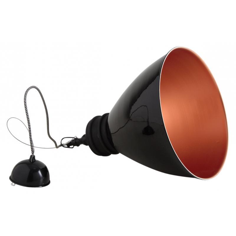 lampe suspension en m tal laqu noir et bois nla1890. Black Bedroom Furniture Sets. Home Design Ideas