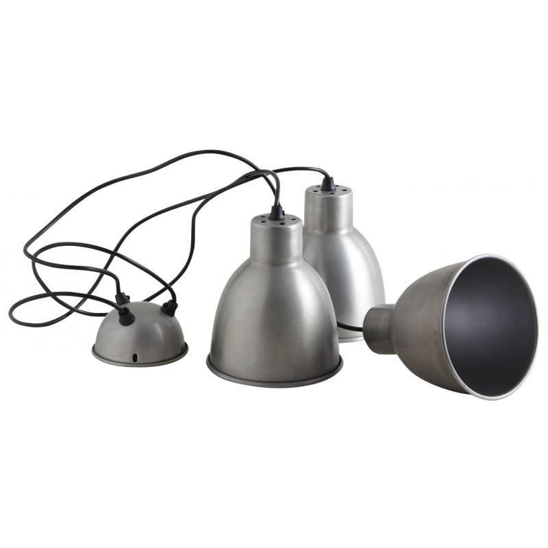 suspension 3 lampes en zinc antique  nla1980  aubrygaspard