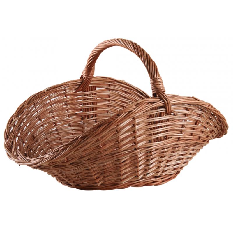 Buff willow log basket
