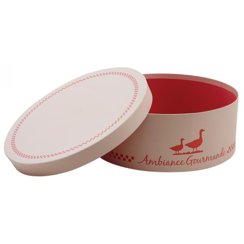 Boite ronde en carton ambiance gourmande vbt2661 aubry gaspard - Boite en carton ronde ...