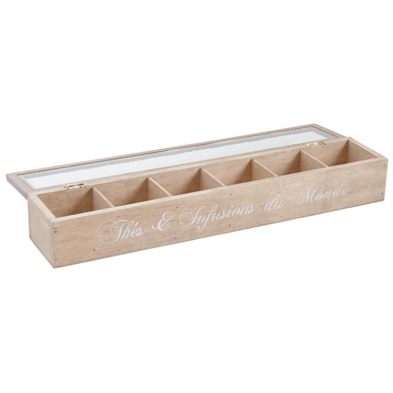 Boite th 6 compartiments vcp1170v aubry gaspard - Boite a the 9 compartiments ...