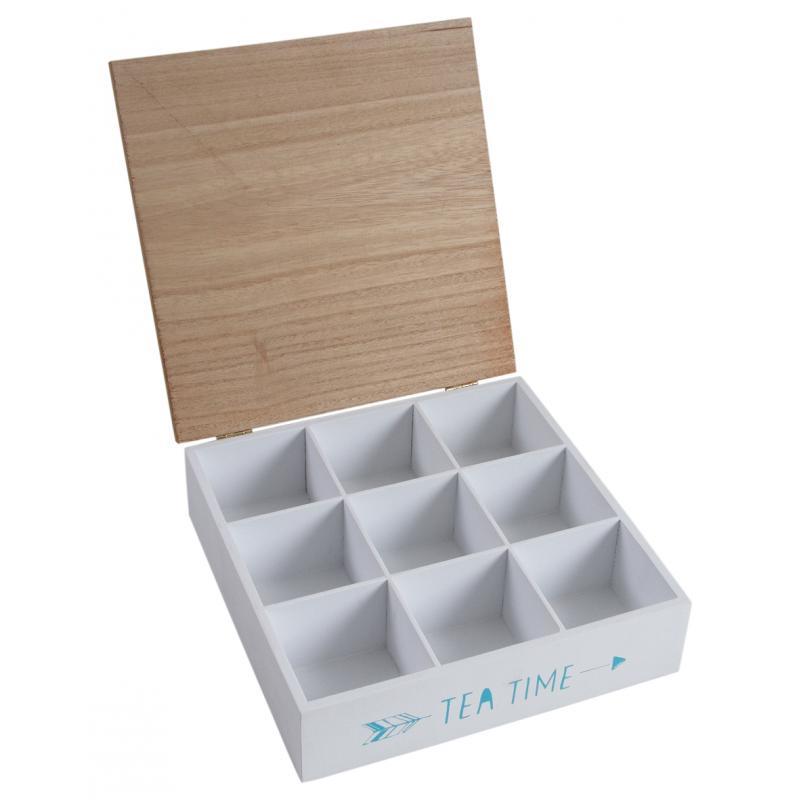 Boite th 9 compartiments time for tea vcp1200 aubry gaspard - Boite a the 9 compartiments ...