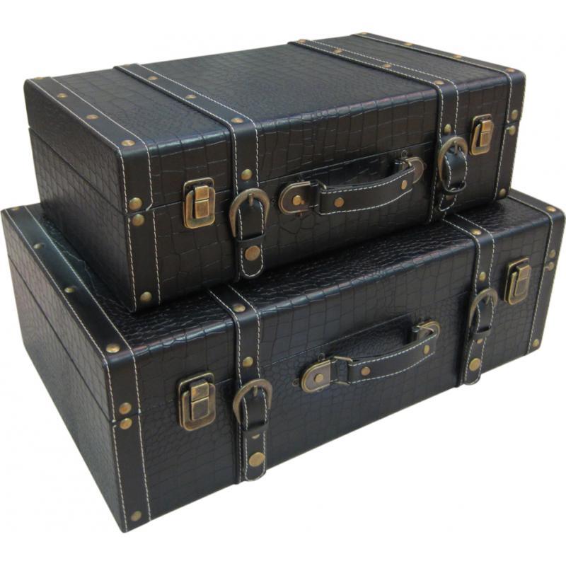 valises en bois et simili cuir vva189s aubry gaspard. Black Bedroom Furniture Sets. Home Design Ideas